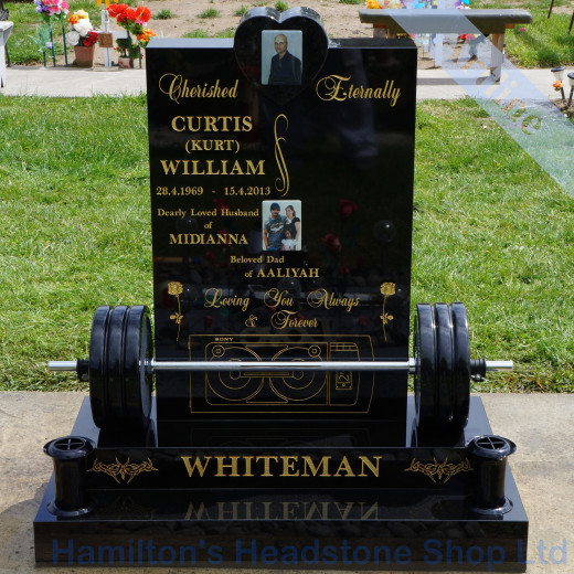 Weights Bench Headstone