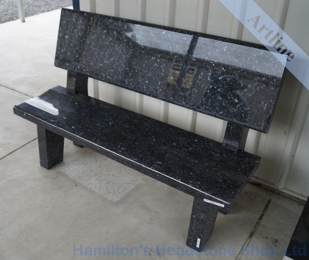 Blue Pearl granite Bench Seats