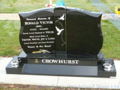 Double Plot Headstone for over two plots
