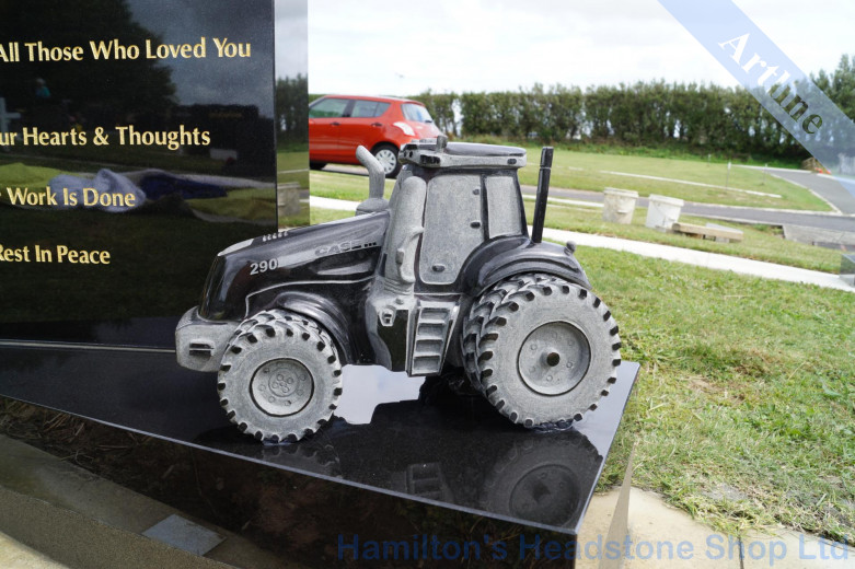 3D Tractor Headstone